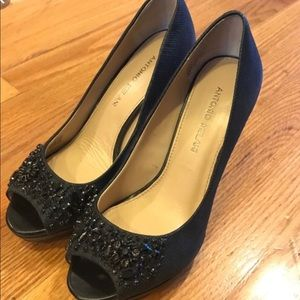 Antonio Melani Black Beaded Pumps